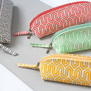 Recycled Graphic Design Personalised Pencil Case - pencil cases