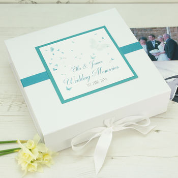 Personalised Papillon Wedding Memory Box