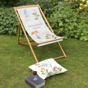 Mum's Garden Flowers Personalised Deckchair - gifts for her