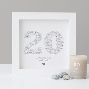 Personalised 20th Anniversary Gift - sale