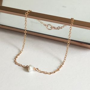 Rose Gold Filled Keshi Pearl Bracelet