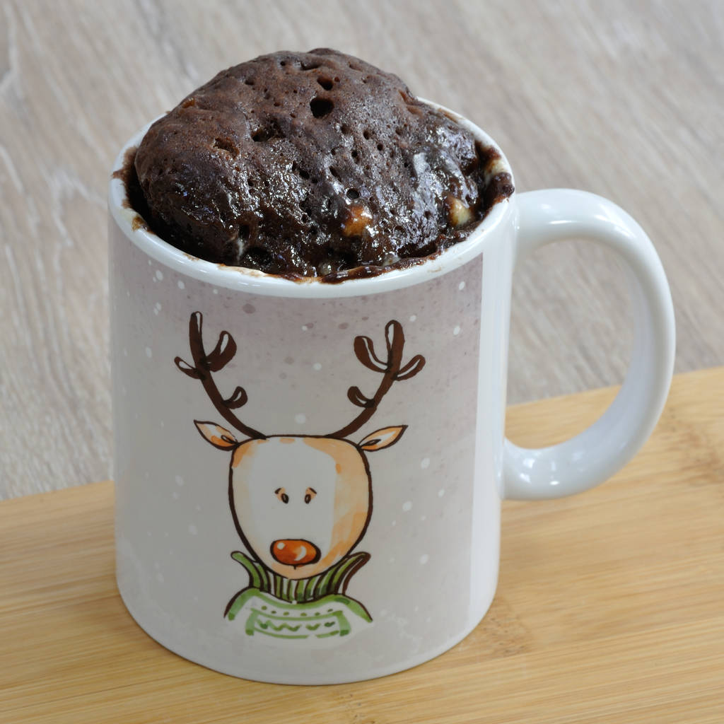 'oh Deer' Christmas Mug Cake Kit By Lily Grace Baking