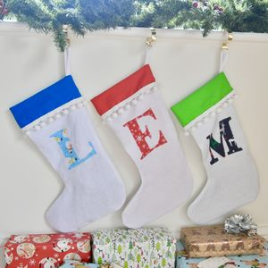 personalised initial christmas stocking by livi belle notonthehighstreetcom