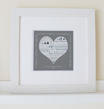 Personalised Mother's Day Heart Prints