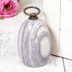 Personalised Contemporary Grey Marble Door Stop - door stops
