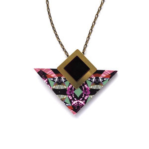 Geometric Triangle And Square Necklace Jewellery