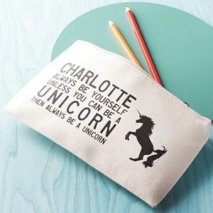 Personalised Unicorn Pencil Case - stocking fillers for babies & children