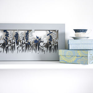 Large Layered Meadow Scene Silhouette Wood Picture Art