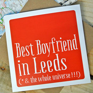 Personalised Best Boyfriend Box Card
