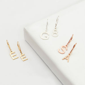 Sterling Silver Personalised Dangle Earrrings - gold earrings