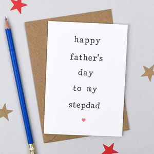 'Happy Father's Day' Stepdad Card - cards for step dads