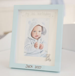 Personalised Blue 1st Birthday Frame