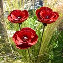 Set Of Garden Poppy Sculptures