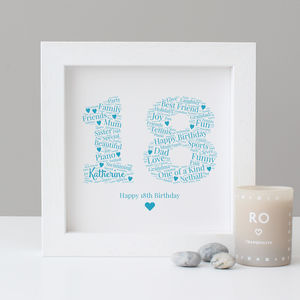 Personalised 18th Birthday Gift Print - personalised sale