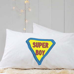 Personalised 'Superman' Pillow Case - bedroom