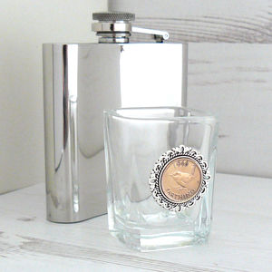 Birthday Farthing Shot Glass - dining room