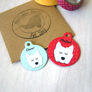 West Highland Terrier Dog ID Tag - dogs