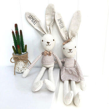 Personalised Soft Toy Hare