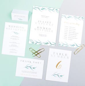 Table Plan, Numbers, Place Cards, Menus : Verona