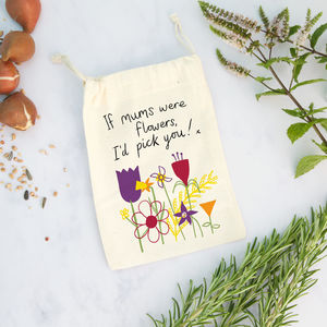 Flowers Gift Bag For Mum With Seeds - gift bags & boxes