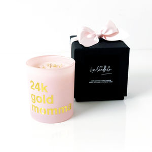 Pink Gold Personalised Mothers Day Candle Gift