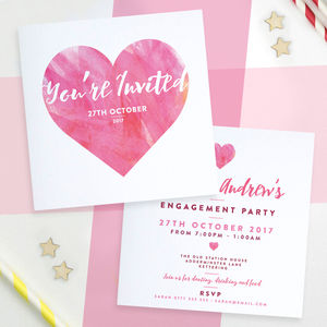 Personalised Wedding Engagement Birthday Invitations - adults party invitations