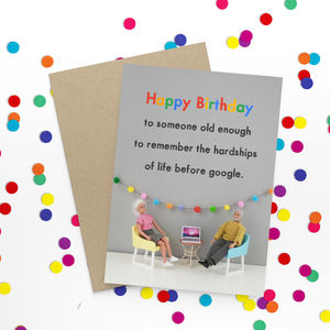 Google Birthday Funny Birthday Card