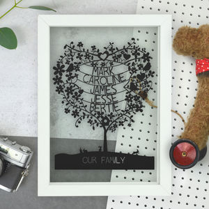 Personalised Family Tree Paper Cut - mother's day gifts