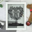 Personalised Family Tree Paper Cut