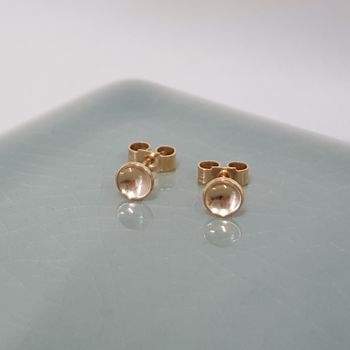 Tiny Gold Domed Studs