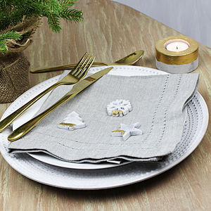 Grey Washed Napkin Set - tableware
