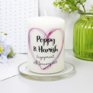 Personalised Engagement Candle - candles & home fragrance