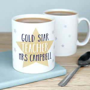 Personalised Star Teacher Mug - gifts for teachers