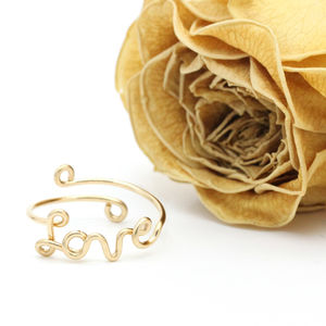 Gold Filled Love Ring