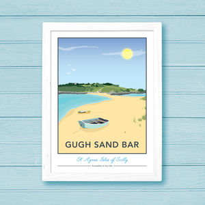 Gugh Sand Bar, St. Agnes, Isles Of Scilly Print