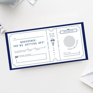 Bon Voyage Vintage Scratch Off Boarding Pass