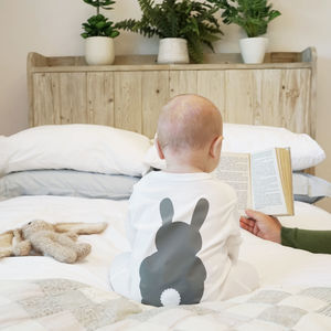 Bunny Rabbit Baby Sleepsuit - babygrows