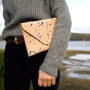 Handcrafted Veg Tan Leather Clutch Bag