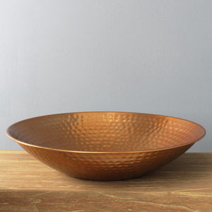 Copper Hammered Dish