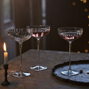 Isla Fluted Champagne Coupe, Set Of Two - 30th birthday gifts