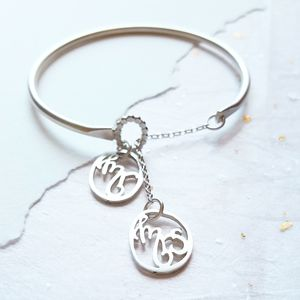 Personalised Mr And Mrs Bangle - charm jewellery