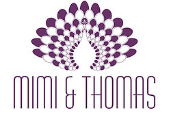 Mimi & Thomas peacock logo design