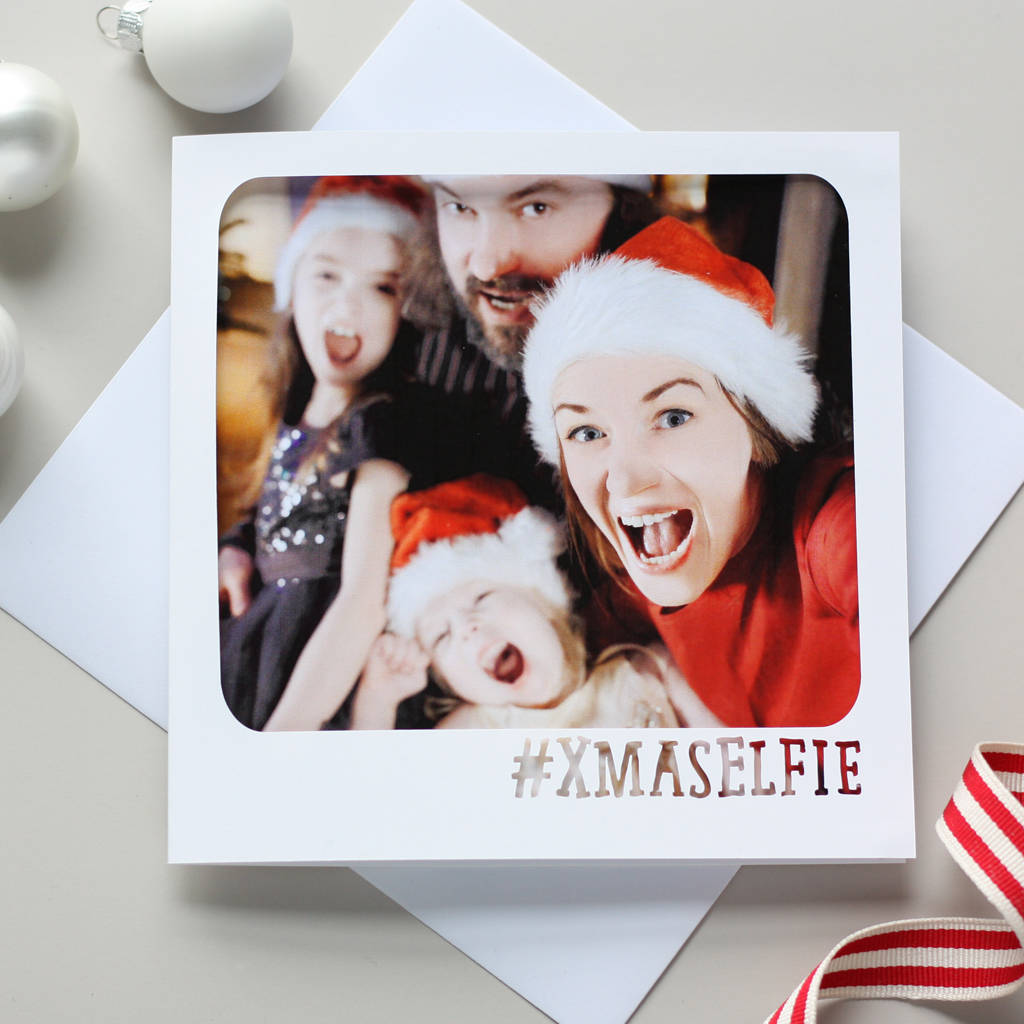 Personalised Christmas Selfie Photo Card
