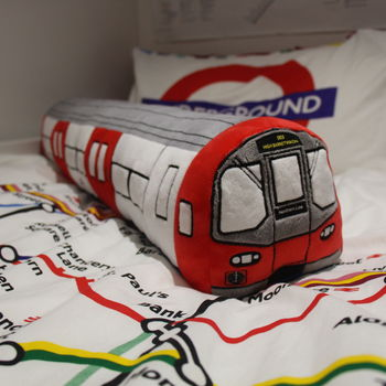 London Underground 3D Tube Train Plush Toy Cushion