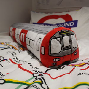 London Underground 3D Tube Train Plush Toy Cushion - baby's room