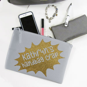 Personalised Handbag Crap Grab Bag - new in fashion