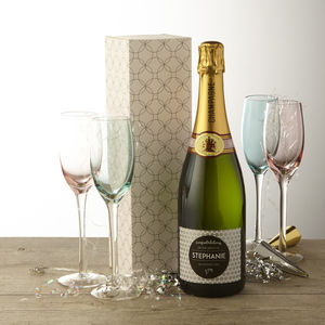 New Baby Personalised Champagne - new baby gifts
