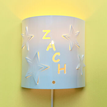 Personalised Star Wall Night Light