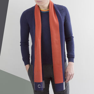 Personalised Men's Colourblock Cashmere Scarf