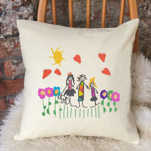Cushion Printed With Your Child's Drawing - gifts for her